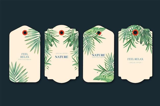Duotone exotische pflanzen geschenkanhänger