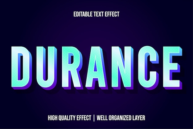Durance modern text effect style