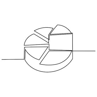 Durchgehende strichzeichnung diagrammvektorillustration