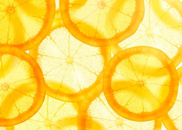 Durchscheinender geschnittener orange hintergrund für designzwecke