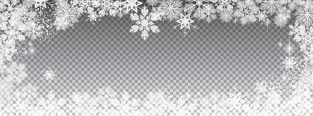 Durchsichtig schneebedeckt