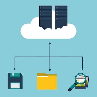 Durchsuchen der cloud-diskettenordner im rechenzentrum