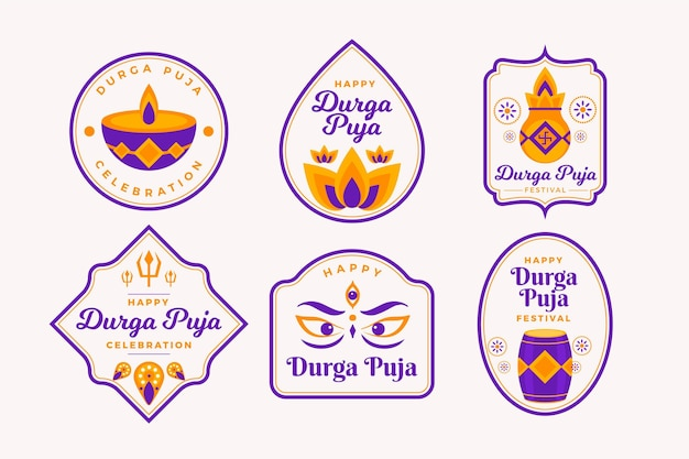 Durga-puja-etiketten gesetzt