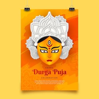 Durga-puja-plakatschablone