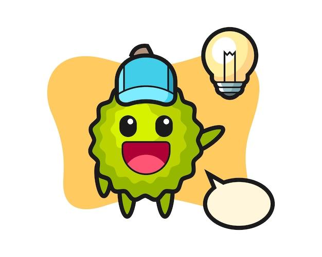 Durian cartoon auf die idee kommen