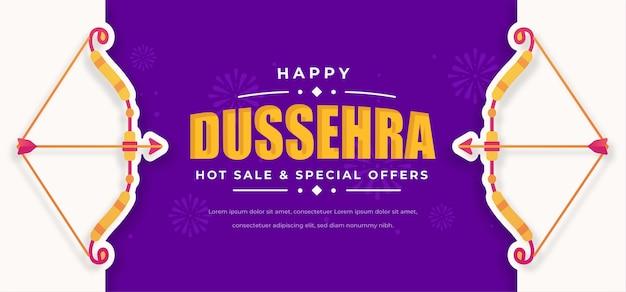 Dussehra banner mit pfeil und bogen