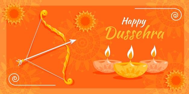 Dussehra banner vorlage