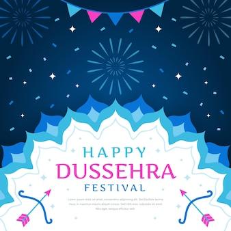 Dussehra ereignisfeier design