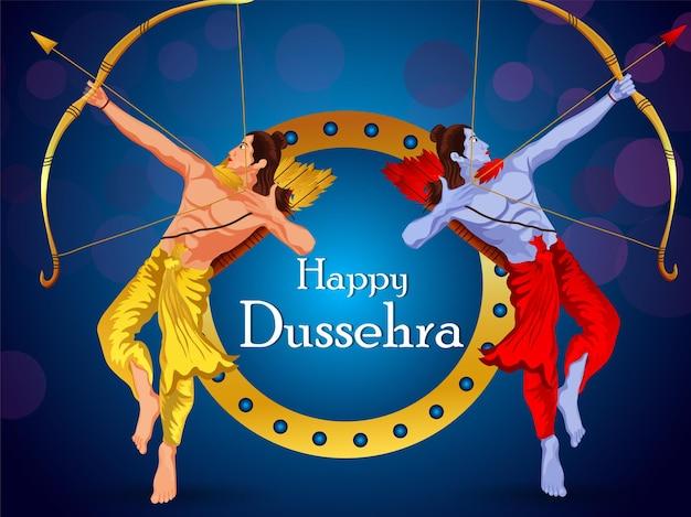 Dussehra festival von indien feier hintergrund celebration