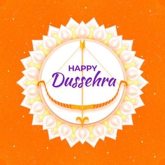 Dussehra-konzept im papierstil