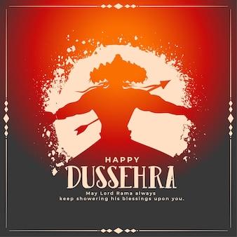 Dussehra wünscht eine karte mit der tötung von raavan