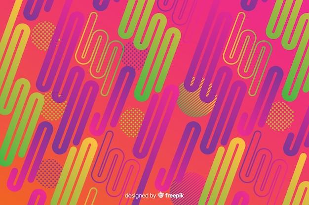 Dynamische abstrakte formen hintergrund mit farbverlauf
