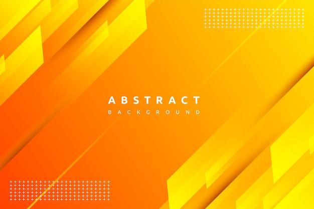 Dynamische fließende orange geometrische mit buntem gradientenhintergrund