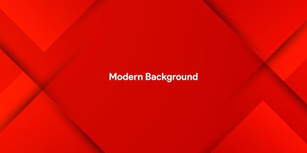 Dynamische fließende rote geometrische mit buntem gradientenhintergrund