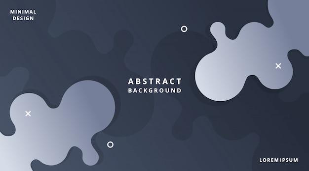 Dynamische moderne flüssige art-hintergrund-flüssigkeits-form