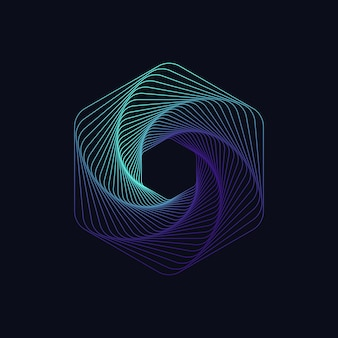 Dynamische sechseckige form