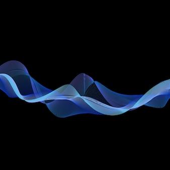 Dynamische wellenillustration, abstrakter hintergrund. kreatives und elegantes stilbild