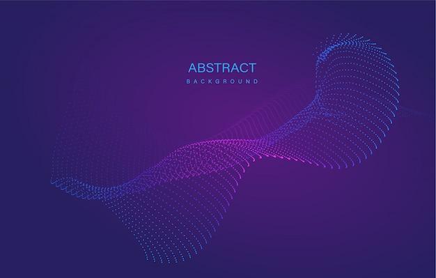 Dynamischer abstrakter flüssiger fluss-partikelhintergrund