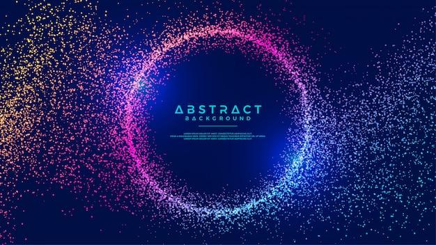 Dynamischer abstrakter flüssiger kreispartikelhintergrund.