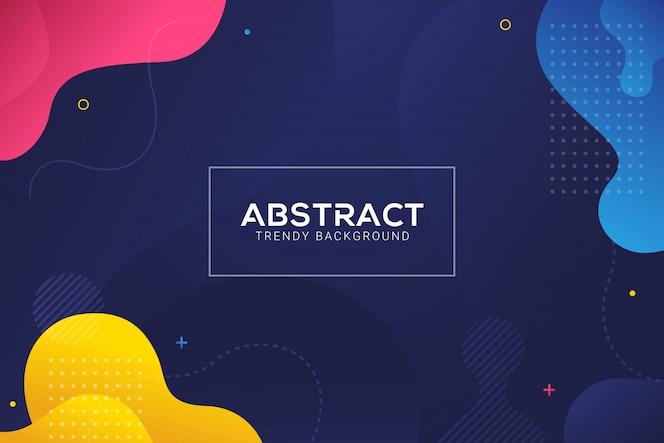 Dynamischer abstrakter flüssiger modischer farbabstufungshintergrund