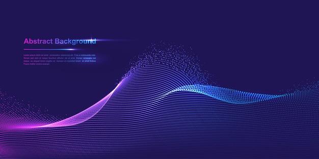 Dynamischer abstrakter flüssiger partikelhintergrund glänzender abstrakter partikelströmungshintergrund