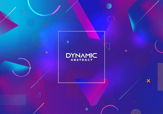 Dynamischer abstrakter hintergrund mit blauen steigungsfarben