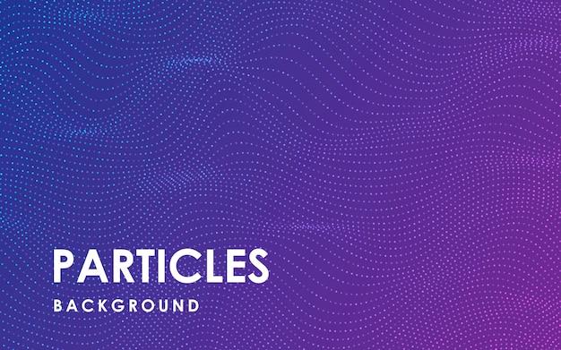Dynamischer abstrakter wellenförmiger partikelhintergrund
