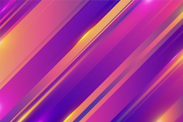 Dynamischer bunter linienhintergrund mit farbverlauf
