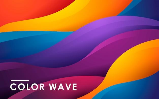 Dynamischer flüssiger farbhintergrund