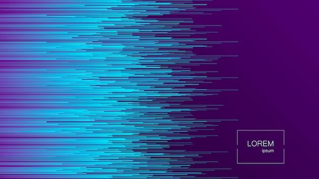 Dynamischer fluss helle linien abstrakter hintergrund