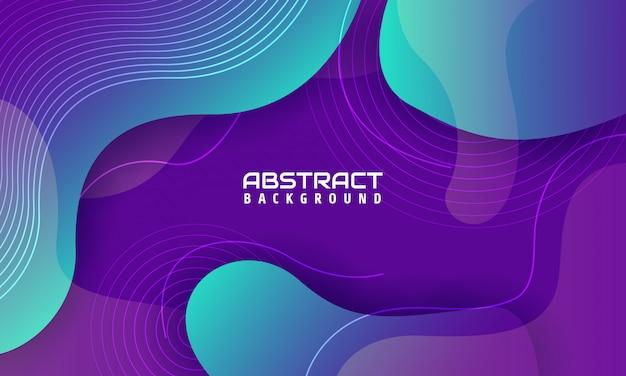 Dynamischer geometrischer hintergrund mit hellen farbformen,