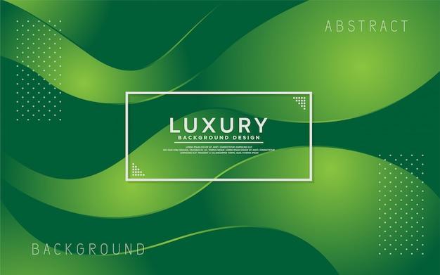 Dynamischer grüner bunter abstrakter moderner hintergrund