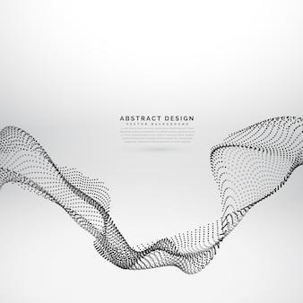 Dynamischer hintergrund der partikelanordnungs-masche 3d