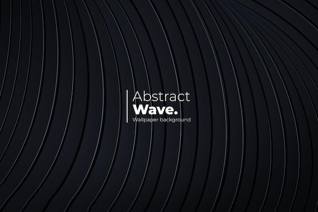 Dynamischer hintergrund mit 3d-vorlage im abstrakten wellenstil