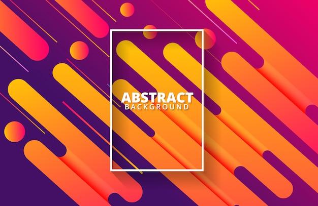 Dynamischer hintergrund mit abstrakter formzusammensetzung und warmer farbe