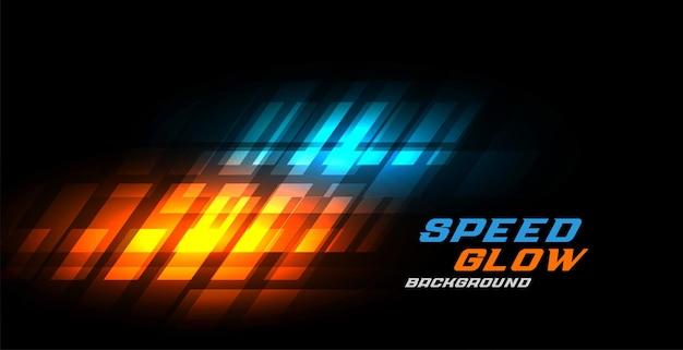 Dynamischer leuchtender geschwindigkeitshintergrund des abstrakten sports