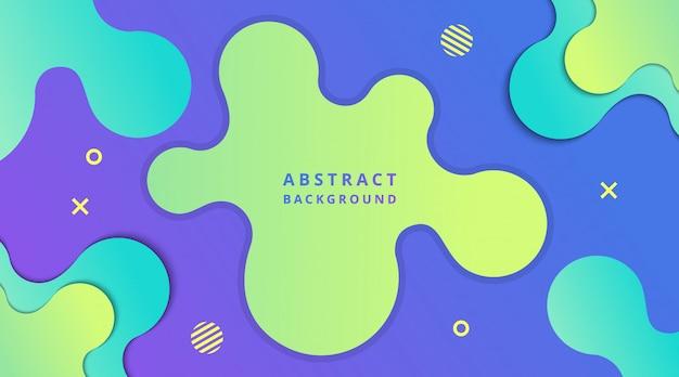 Dynamischer moderner flüssiger steigungshintergrund mit geometrischer formzusammensetzung