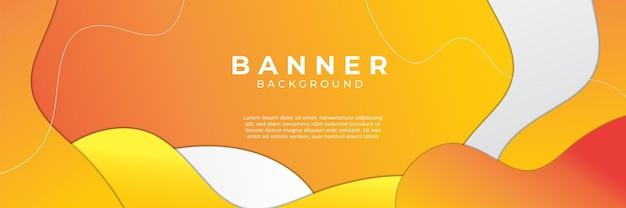 Dynamischer orangefarbener hintergrundverlauf, abstrakter kreativer kratzer digitaler hintergrund, moderner zielseitenkonzeptvektor, mit linien- und kreisform.