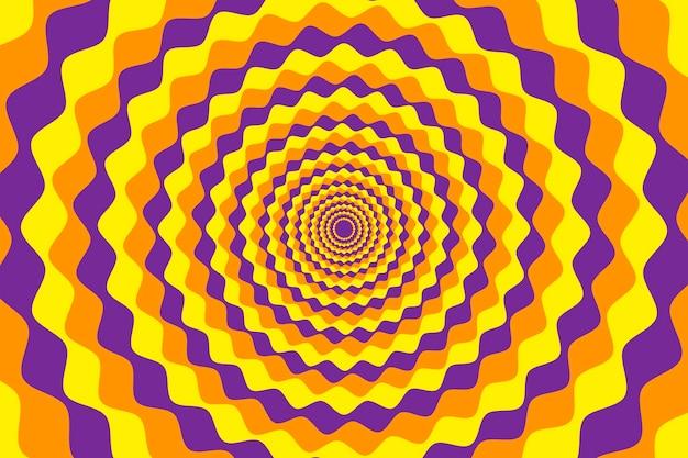 Dynamischer psychedelischer abstrakter blumenhintergrund