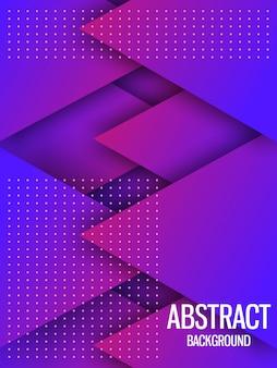 Dynamischer purpurroter geometrischer hintergrund