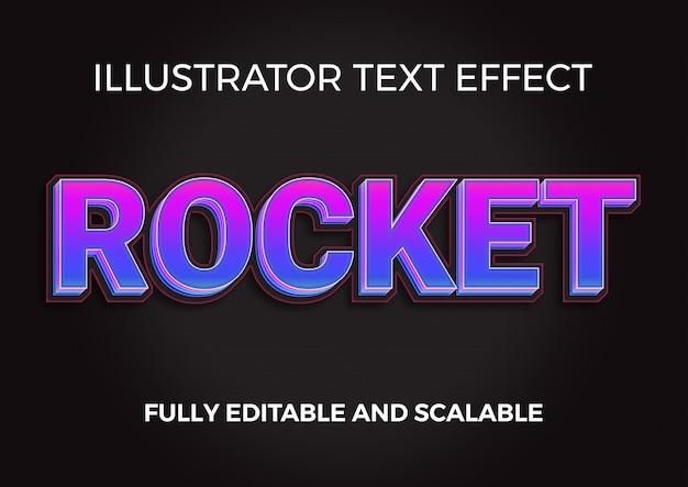 Dynamischer rocket 3d-titeltexteffekt