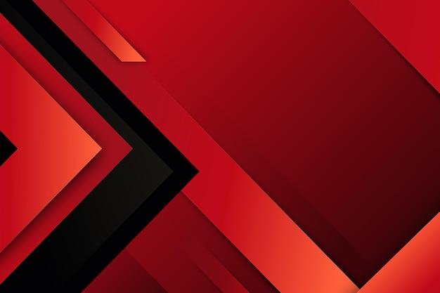 Dynamischer roter linienhintergrund mit farbverlauf