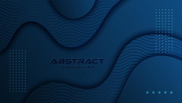 Dynamischer strukturierter hintergrund in der art 3d mit blauer farbe