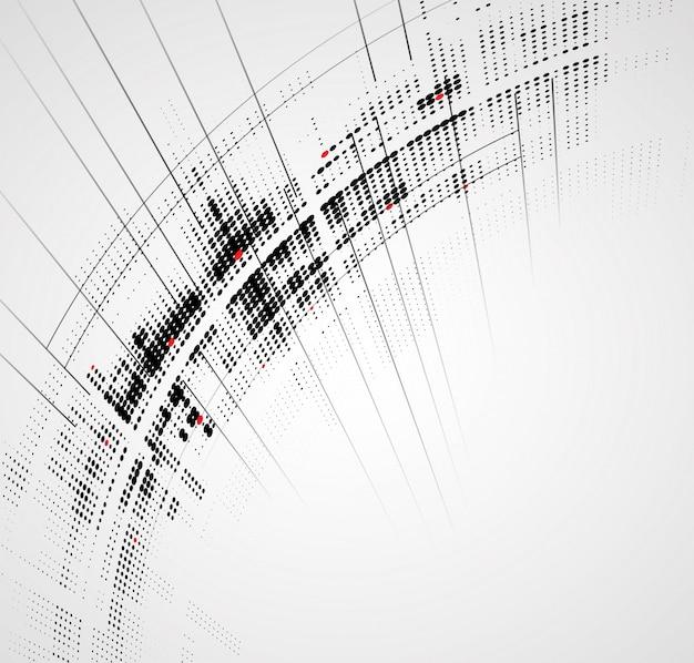 Dynamischer verblassenhintergrund der abstrakten hellen technologie