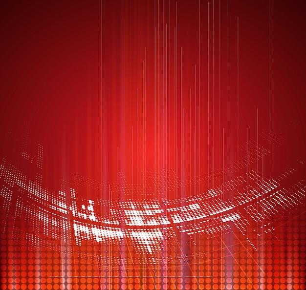 Dynamischer verblassenhintergrund der abstrakten roten technologie