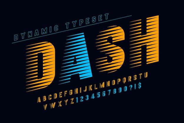 Dynamisches alphabet, buchstaben und zahlen.