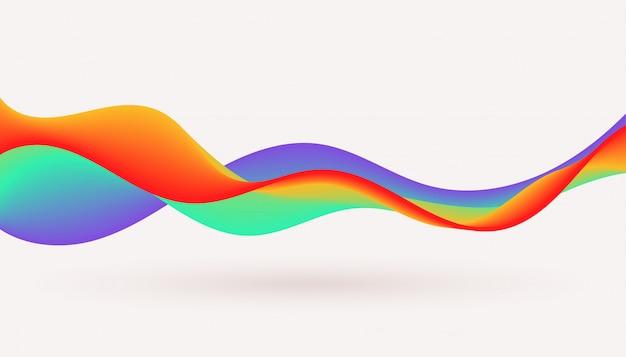 Dynamisches buntes hintergrunddesign der fließenden fluidwelle