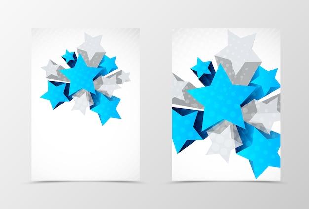 Dynamisches geometrisches flyer-vorlagendesign vorne und hinten