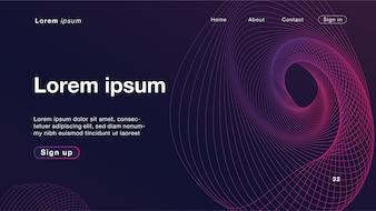 Dynamisches lineares wellenförmiges purpurrotes Licht der Hintergrundzusammenfassung für Homepage