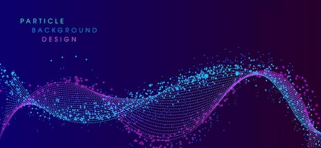 Dynamisches partikel mit modernem hintergrund des flüssigen elements